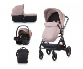 Комбинирана детска количка до 22кг Chipolino Елит 3в1, лате