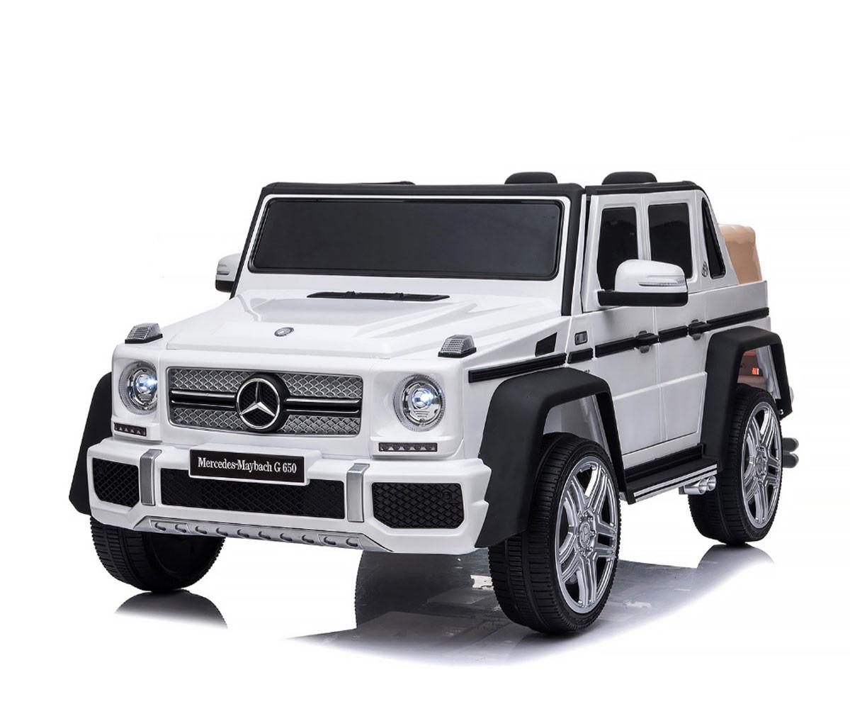 Детски акумулаторен джип Chipolino Mercedes Maybach G650, бял