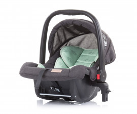 Бебешко столче за кола с адаптор до 13кг Chipolino Адора, мента 0+