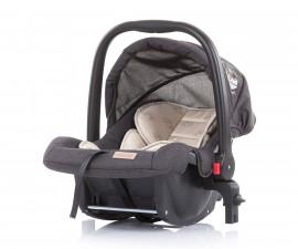 Бебешко столче за кола с адаптор до 13кг Chipolino Адора, ванилия 0+