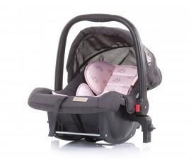 Бебешко столче за кола с адаптор до 13кг Chipolino Адора, божур 0+