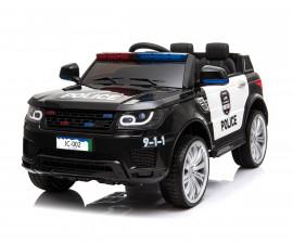 Детски акумулаторен джип Chipolino полиция, черен