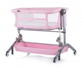 Бебешка кошара за спане и игра с подвижна страница Чиполино Аморе Мио, розов божур