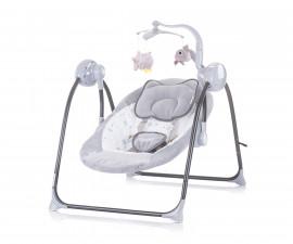 Електрическа бебешка люлка за новородено до 9 кг Chipolino Гуш-гуш, мъгла LSHHU0201MT