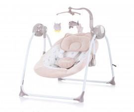 Електрическа бебешка люлка за новородено до 9 кг Chipolino Гуш-гуш, лате LSHHU0202LA