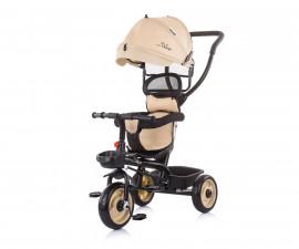 Детска триколка с родителски контрол и със сенник Chipolino Пулс, лате TRKPL02102LA