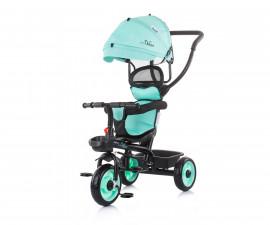 Детска триколка с родителски контрол и със сенник Chipolino Пулс, мента TRKPL02103MI