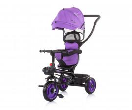 Детска триколка с родителски контрол и със сенник Chipolino Пулс, далия TRKPL02105DH