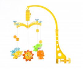 Музикална играчка въртележка за бебешко креватче и кошарка Chipolino, Буболечета MILS02101LB