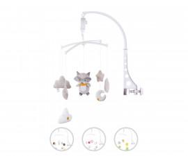 Музикална играчка въртележка за бебешко креватче и кошарка Chipolino, асортимент