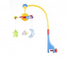 Музикална играчка въртележка за бебешко креватче и кошарка с прожектор Chipolino, Орбита MILS02115OR