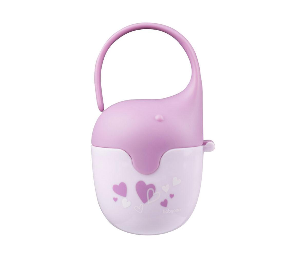 Кутия за залъгалка с държач за количка Babyono, розова