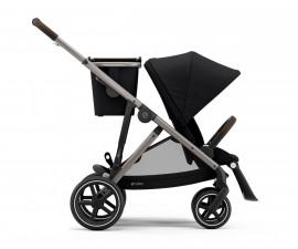 Бебешка количка за близнаци до 22 кг Cybex Gazelle S TPE, Deep Black 520002177