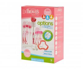 Подаръчен комплект с шишета, четка и биберони Dr.Brown's Narrow-Neck Options SB05305-ESX, розов 72239306390