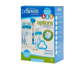Подаръчен комплект с шишета, четка и биберони Dr.Brown's Narrow-Neck Options SB05405-ESX, син 72239306406