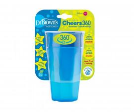 Детска чаша Dr.Brown's TC01040-INTL, 300 мл, 360°, синя 72239314876