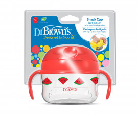 Бебешка купа за закуска с дръжки Dr.Browns TF117-INTL, червена