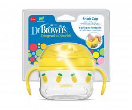Бебешка купа за закуска с дръжки Dr.Browns TF118-INTL, жълта