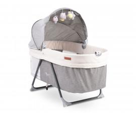 Електрическа люлка за новородено 2в1 Cangaroo Aliya, сива 108389
