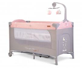Сгъваема бебешка кошара за спане и игра Cangaroo Once upon a time, 3 нива, розова 108446