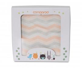Одеяло от памук за бебета Cangaroo Mellow, корал, 85 х 85 см 108056