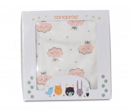 Одеяло от памук за бебета Cangaroo Mellow, розово, 85 х 85 см 108057