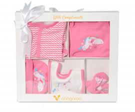 Комплект за изписване на новородено бебе Cangaroo The one girl, 5 части