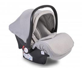 Бебешко столче за кола - кошница Moni, светло сиво, 0-13 кг