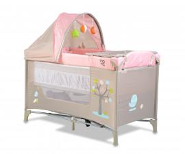 Бебешка кошара за спане и игра Cangaroo Friend, розовa