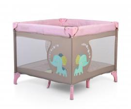 Бебешка квадратна кошара за спане и игра Cangaroo Giant, розова