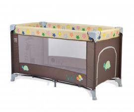 Бебешка кошара за спане и игра Cangaroo Safari new, кафява