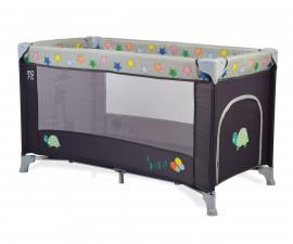 Бебешка кошара за спане и игра Cangaroo Safari new, сива