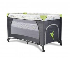 Бебешка кошара за спане и игра Cangaroo Star Duo, зелена