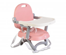 Бебешко столче за хранене с повдигаща фукция Cangaroo Papaya, светло розово