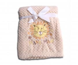 Бебешки полиестерни одеяла Cangaroo Freya, бежово