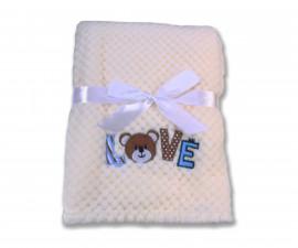 Бебешки полиестерни одеяла Cangaroo Freya, бяло