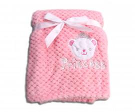 Бебешки полиестерни одеяла Cangaroo Freya, розово