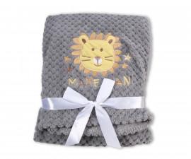 Бебешки полиестерни одеяла Cangaroo Freya, сиво