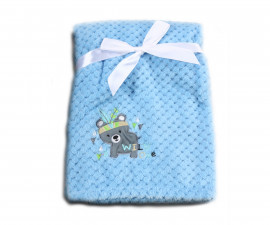 Бебешки полиестерни одеяла Cangaroo Freya, синьо