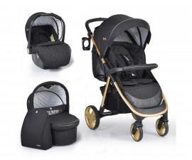 Комбинирана бебешка количка Cangaroo Noble 3в1, черна