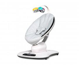 Електрическа бебешка люлка Мамару Класик в сребристо сиво