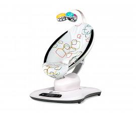 Електрическа бебешка люлка Мамару Плюш с многоцветен десен