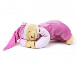 Бебешка мека играчка - Плюшено мече Doodoo с успокояващ звук, нощна лампа розово