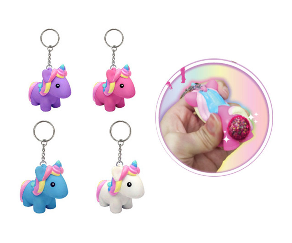 Детска плюшена играчка - Плюшена играчка - Ключодържател ендорог с брокат