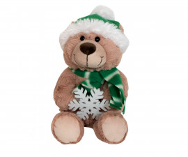 Детска плюшена играчка - Плюшена играчка - Мече 20см. със снежинки