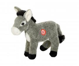 Детска плюшена играчка - Плюшена играчка - Плюшено магаренце със звук, 16см.