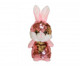 Плюшена играчка за деца - Зайче с пайети, 14см 2070-1