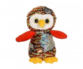 Плюшена играчка за деца - Бухалче с пайети, 14см 2070-2