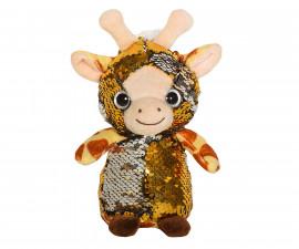Плюшена играчка за деца - Жирафче с пайети, 14см 2070-4