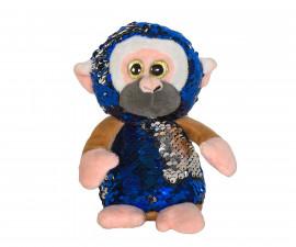 Плюшена играчка за деца - Маймунка с пайети, 14см 2070-6